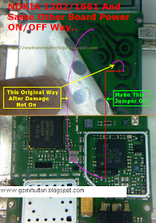 NOKia 1202,1203,1661,1662 Power Switch On/Off Solution Ways