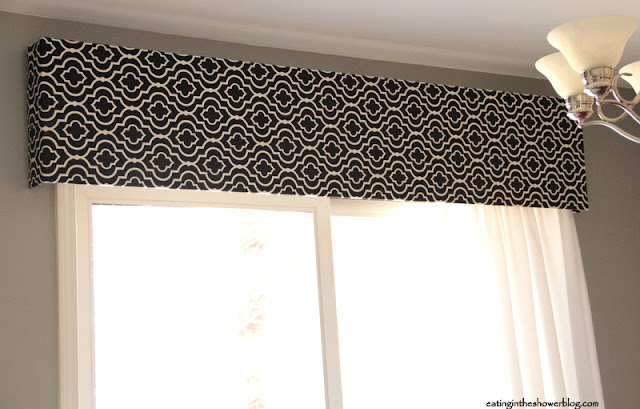 DIY Black and White Fabric Pelmet Box