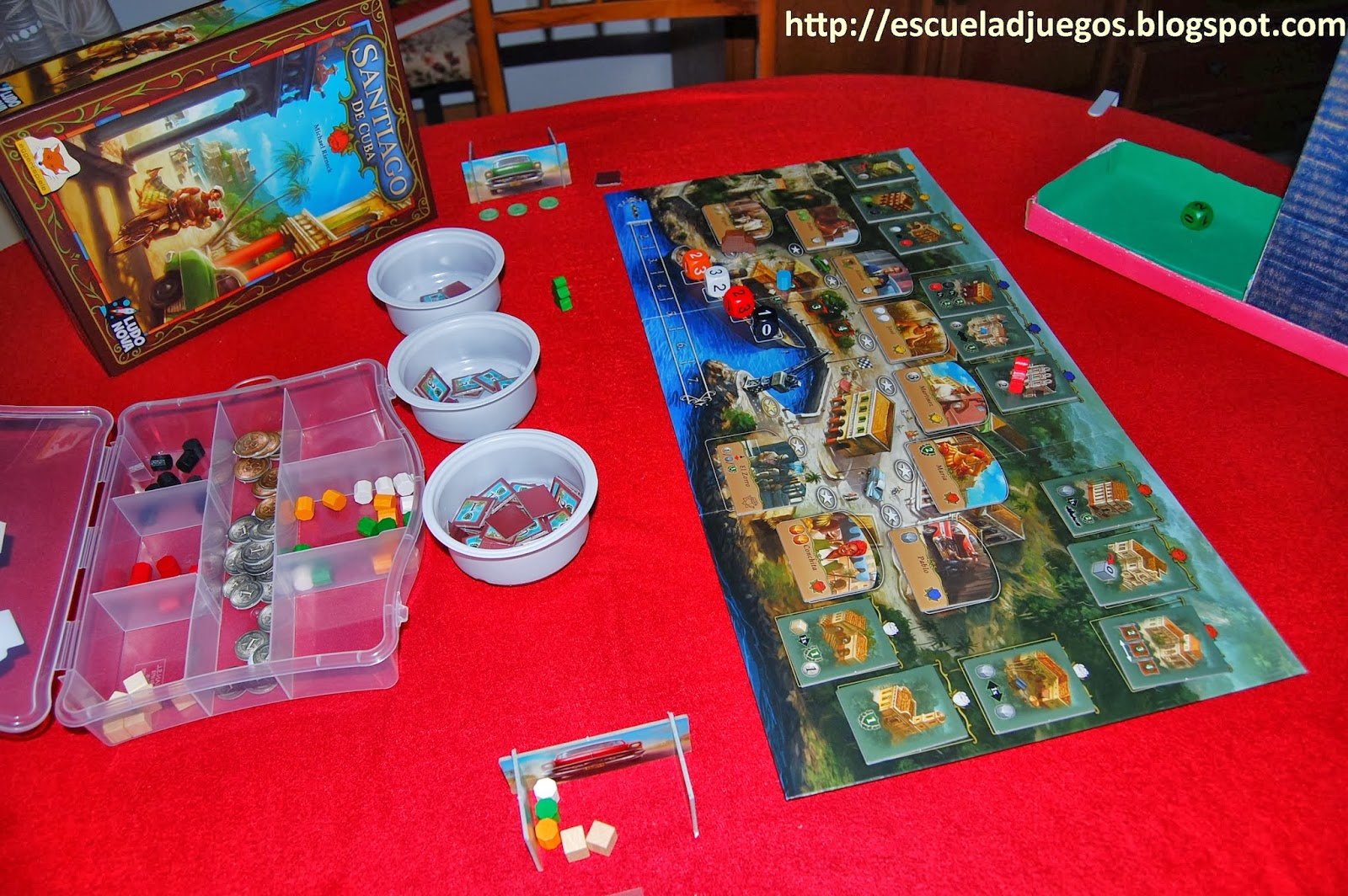 Santiago de Cuba, juego de mesa para hasta 4 jugadores editado en español por Ludonova