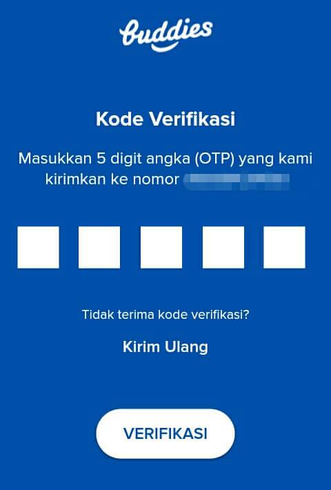 "masukkan Kode Verifikasi yang telah dikirim melalui melalui sms dan pilih ""Verifikasi""."