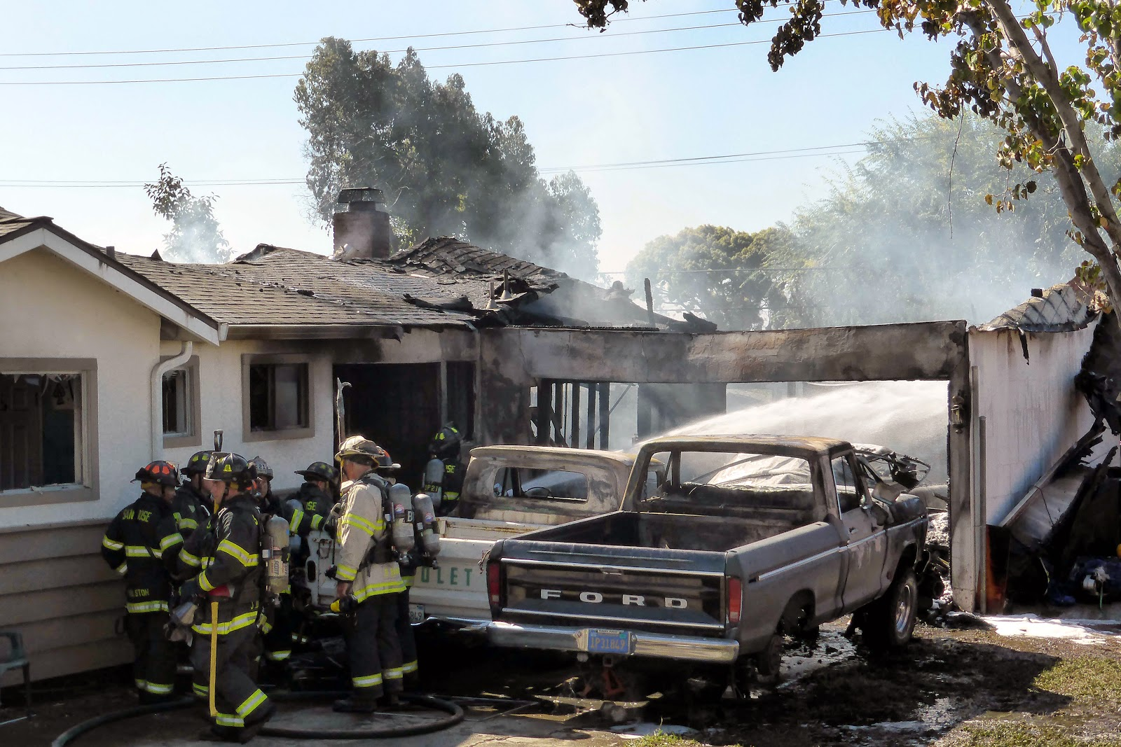 Fire Associates of Santa Clara Valley San Jose Garage Fire Destroys Vehicles and Attached Home