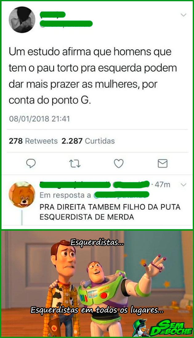 ESQUERDISTAS EM TODOS OS LUGARES