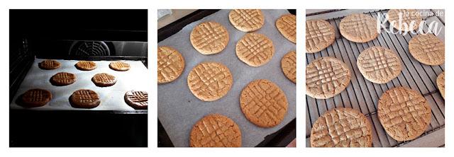 Receta de galletas de chocolate y cacahuete: el horneado