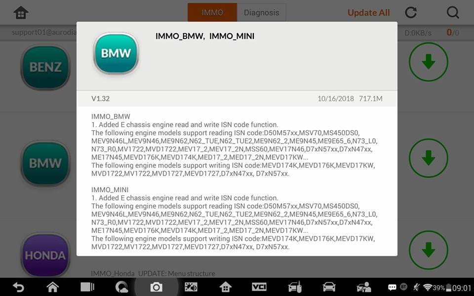 Auro OtoSys Diagnostic & Key Programming Tool: Auro IM100 IM600 adds