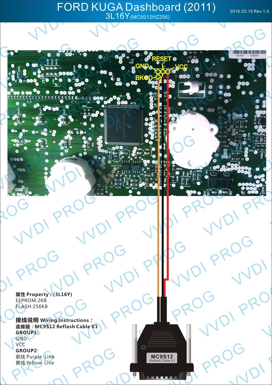 Xhorse Vvdi Prog Wiring Diagram To Ecus Mcus  Updating