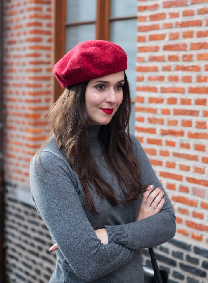 Outfit: vintage inspired in turtleneck and beret
