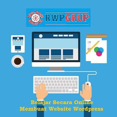 Belajar secara online membuat website wordpress