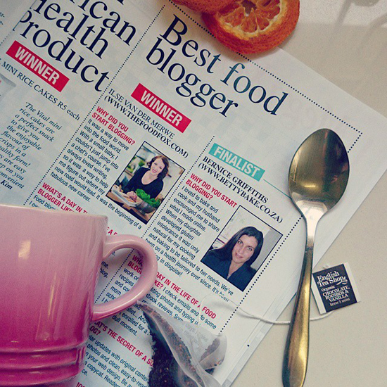 Fairlady magazine, november issue, best food blogger, finalist, betty bake, food blog, SA Food blogger,