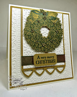 ODBD Products - ODBD Custom Cathedral Window and Border Dies, Holly Wreath, Jingle Bells