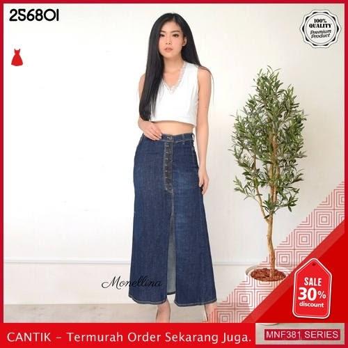 MNF381J153 Jeans 256801 Wanita Panjang Denim Jeans Rok 2019 BMGShop