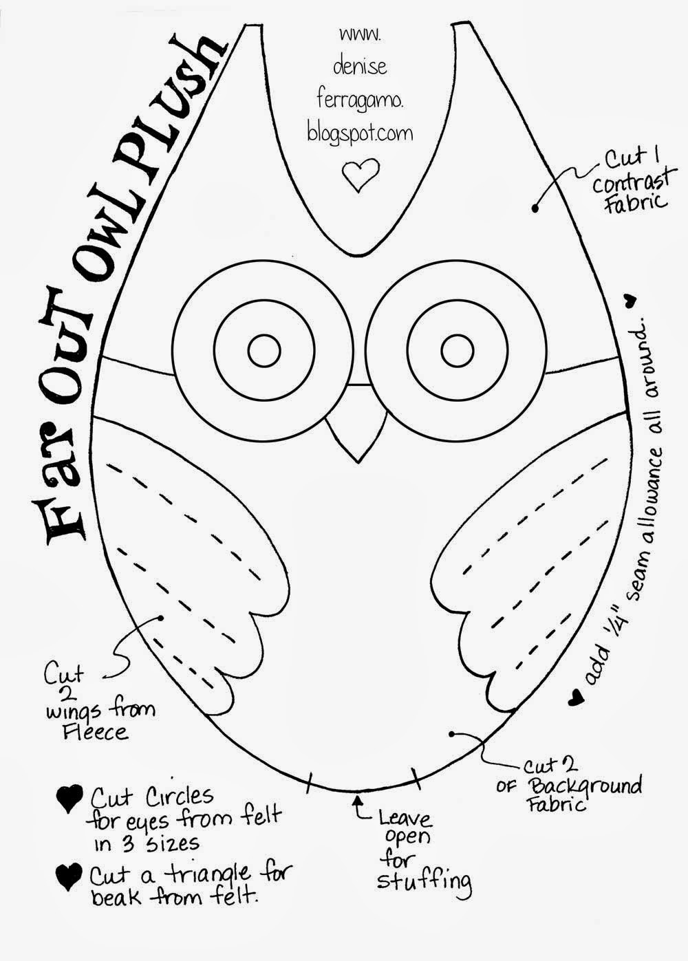 early play templates: Owl templates: cut and create