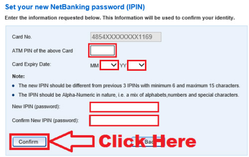 how to reset netbanking password hdfc