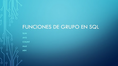 Funciones de grupo en SQL