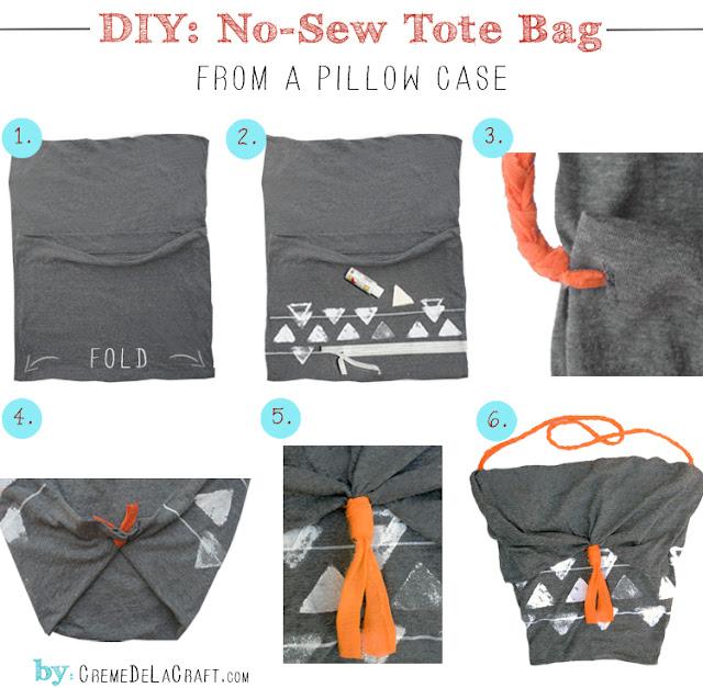Diy No Sew Tote Bag From A Pillowcase