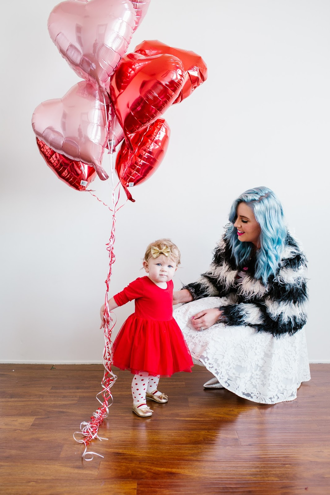 Blue Hair, Mommy and Me outfits, Fashion Blogger