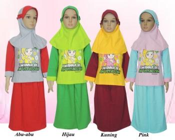 Model Pakaian Kaos Muslim Anak Perempuan Terbaru