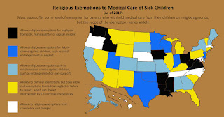 Religious Exemptions to Medical Care of Sick Children - Fall 2017