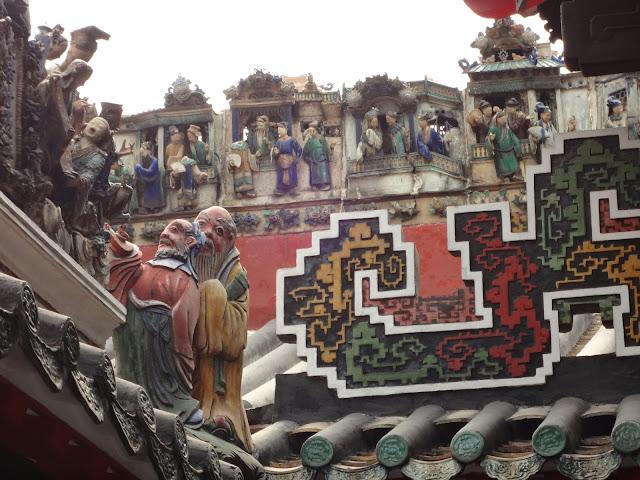 Tejados del templo de los ancestros de Foshan