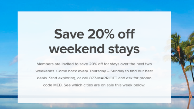 4/26更新-Last-Minute-Hotel-Deals~最近2周周末入住Marriott萬豪參與活動酒店 可享8折優惠!