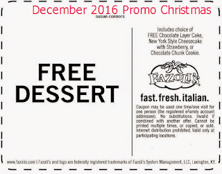 free Discount coupons december 2016