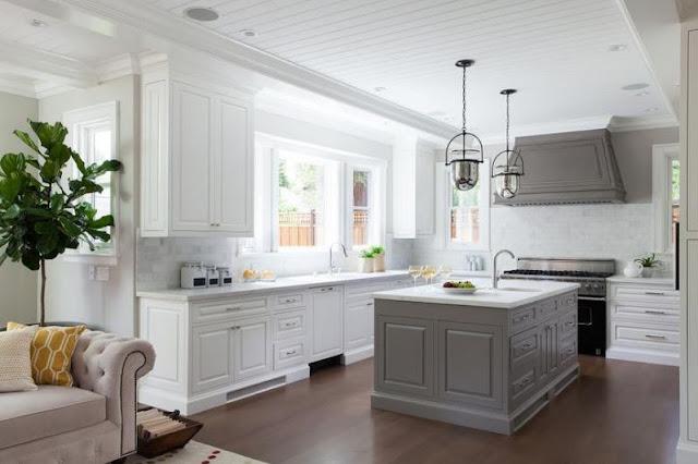 Kitchen Tile Ideas For White-Kitchen Grey And White Contemporary Kitchens