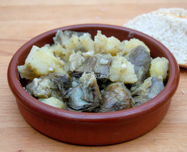 Alcachofas con Patatas (Carciofi e Patate)