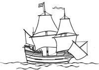 It is a photo of Versatile mayflower coloring page
