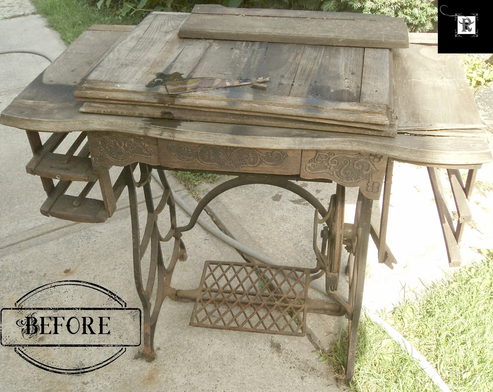 Treadle Sewing Machine Upcycle | Redo It Yourself Inspirations : Treadle  Sewing Machine Upcycle