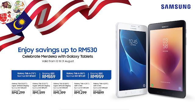 Merdeka Promotion : Samsung's Galaxy Tab ( Till 31st August 2018)