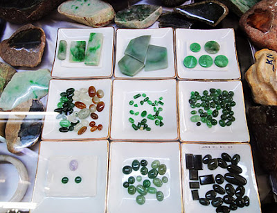 pieces of jadeite