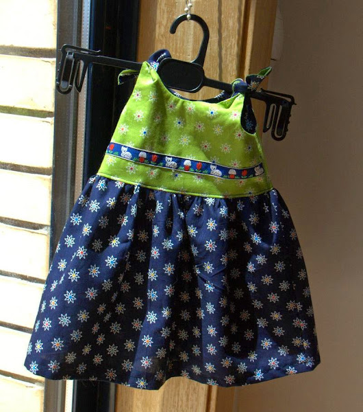 patchwork ... & ... more: Baby Dress - Newborn