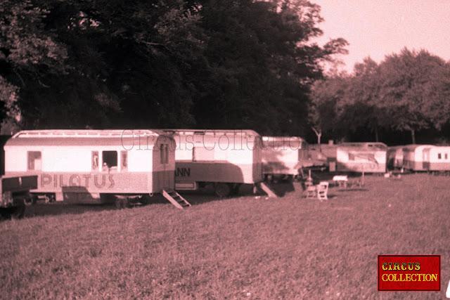 roulottes d'habitations de la famille Bühlmann