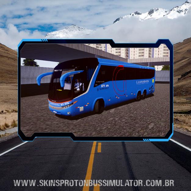Skin Proton Bus Simulator Road - G7 1200 Volvo B12R Expresso Guanabara