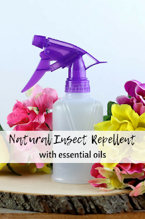 Homemade insect repellent spray recipe with essential oils.