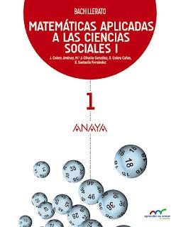 Libro Matemáticas Aplicadas a las Ciencias Sociales I 1º Bachillerato Anaya Proyecto Aprender es Crecer