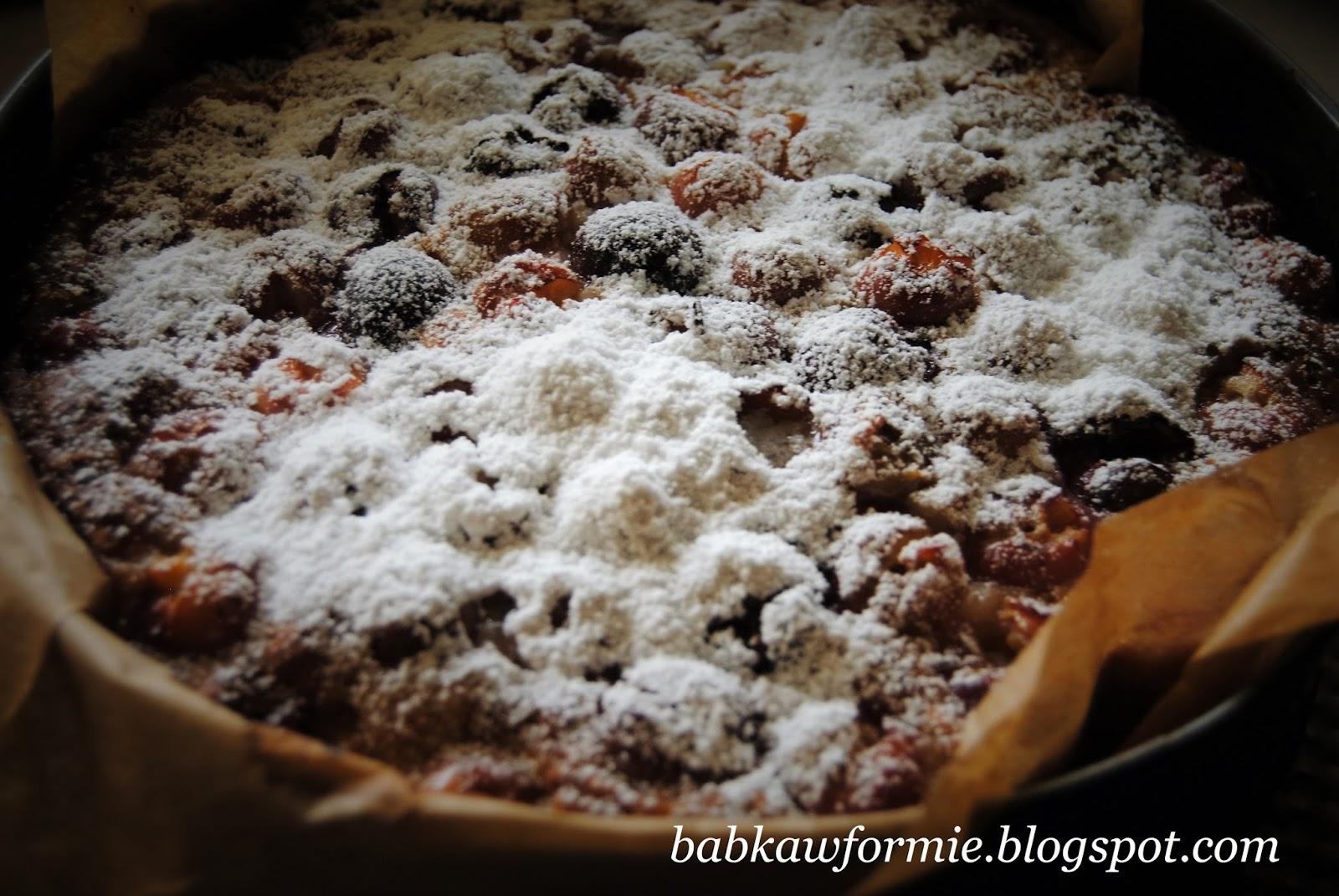 ciasto jogurtowe z czereśniami z owocami babkawformie.blogspot.com