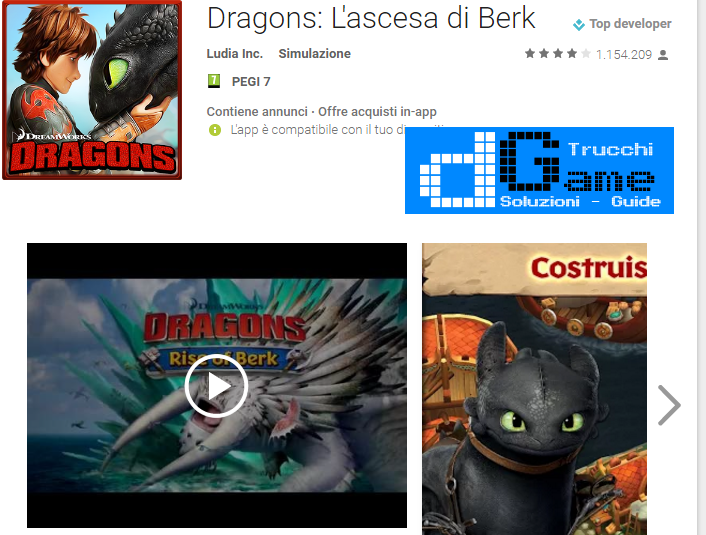 Trucchi Dragons: Rise of Berk  Mod Apk Android v1.25.10