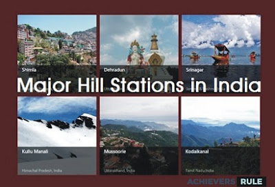 Major Hills stations in India for SSC Railway and Banking Exams