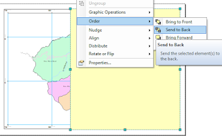 Membuat Template Layout ArcGIS rectangle send to back