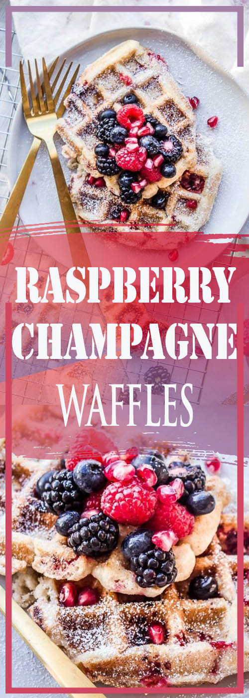 RASPBERRY CHAMPAGNE WAFFLES RECIPE