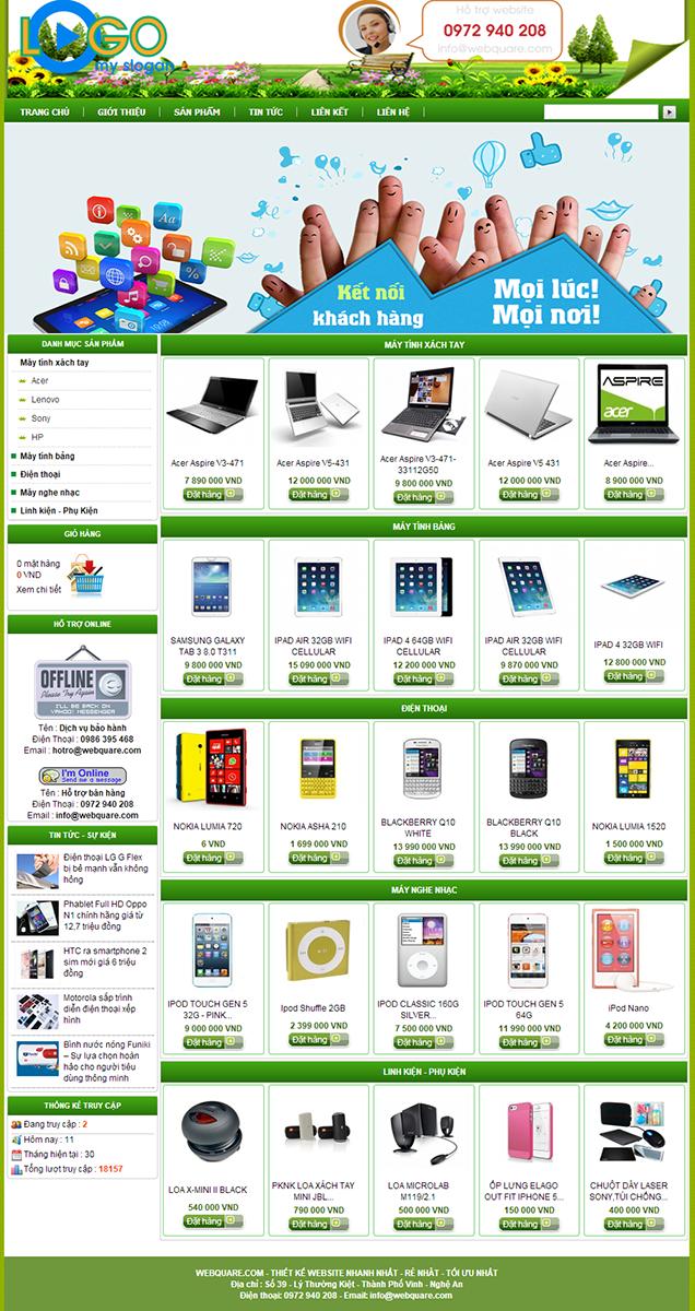 thiết kế website bán hàng thiết bị văn phòng chuyên nghiệp