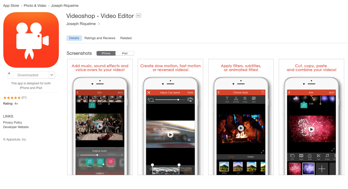 UCET Free iOS App Today: Videoshop - Video Editor - UCET