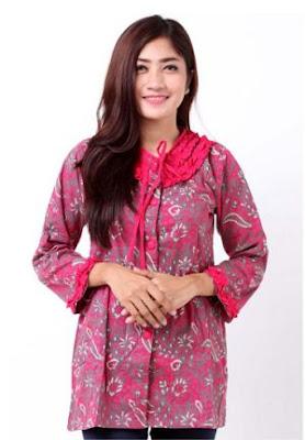 Baju Kerja Batik Blus Modern