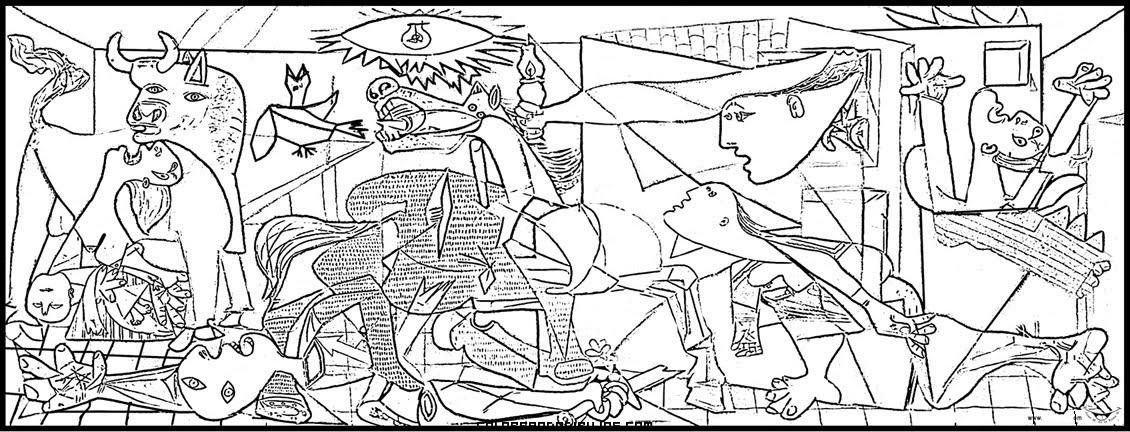 Arte para niños: Dibujos de Pablo Picasso para pintar y colorear