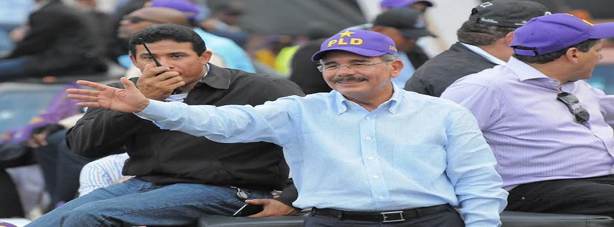 Danilo Medina  primer candidato que supera el 60%