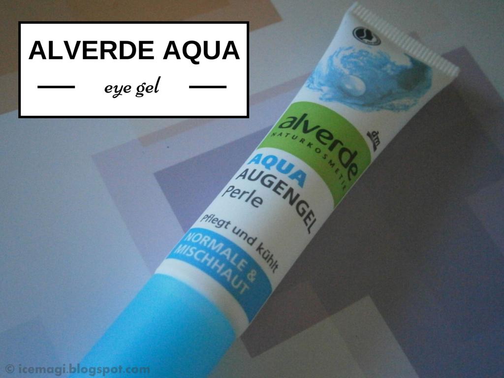 review Alverde aqua eye gel