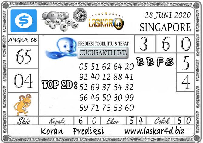 Prediksi Togel SINGAPORE LASKAR4D 28 JUNI 2020