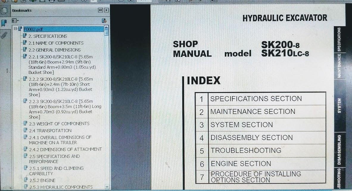 Kobelco Sk210 Service Manual Pdf Perfect Kobelco Tlk Loader Backhoe