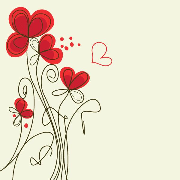 Lineas Decorativas Rojas Con Mariposas Para Dibujar