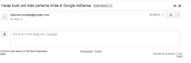 Email Lolos Review Pertama